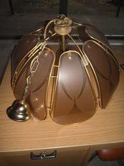 Lampe Glas Messing