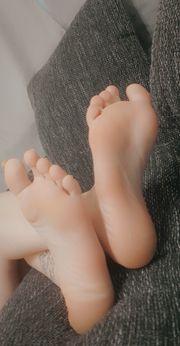 Socken Fußbilder zu verkaufen