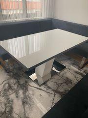 Esstisch Metz 160cm Weiß mit