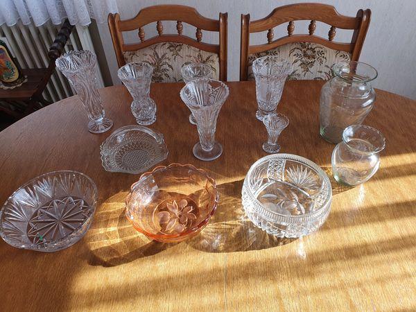 Bleikristall im Set ( Vasen und Schüsseln )