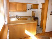 Küche U-Form Eiche-Massivholz-Front