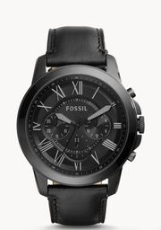 Fossil Grant Chronograph Black Uhr