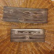 2 Deko Schalen in Holzoptik