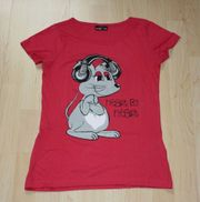 Mädchen Kurzarm T-Shirt Maus Kinder