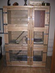 Kaninchenstall 3-stöckig