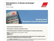 Referatsleiter - IT-Betrieb und Strategie m
