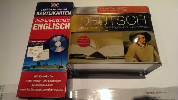 Deutsch Englisch Sprachboxen NEU zu