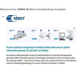Entwicklungsingenieur Medizintechnik (m/w/d)