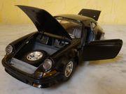 Porsche 911 schwarz Marke Bburago