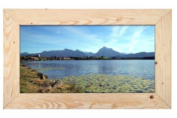 Holzbilderrahmen mit Fotografie Hopfensee 72