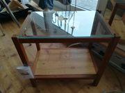 Holz-Regal mit 1 Glasboden