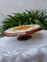 Neuwertige große Kuchen Tortenplatte auf