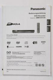 Orig Bedienungsanleitung Panasonic DVD Recorder