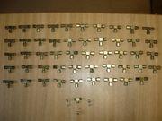 Stahl Rohrverschraubungen 6mm T-Stücke messingfarben