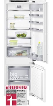 Siemens iQ500 Einbau-Kühl-Gefrier-Kombination KI87SAD40 Flachscharnier