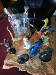 Sammlung von Katzen Figuren