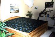 Doppelbett 200x200 cm Kiefer Massivholz