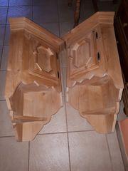 2 Hängeeckschränke rustikal Massivholz Buche