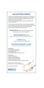 Produktionsmitarbeiter Lackierer Maschinenbediener Bürofachkra