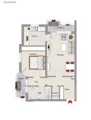 Wohnung zu Vermieten 2 ZKB