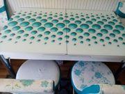 Esstisch mit 6 passenden Stühlen