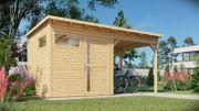 Gerätehaus Modell Pulti mit Anbau