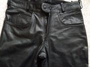 Herren Motorrad Bikerhose Lederhose Jeans