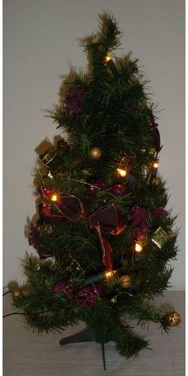 Dekoartikel - Geschmücktes Weihnachtsbäumchen mit Lichterkette Weihnachtsbaum