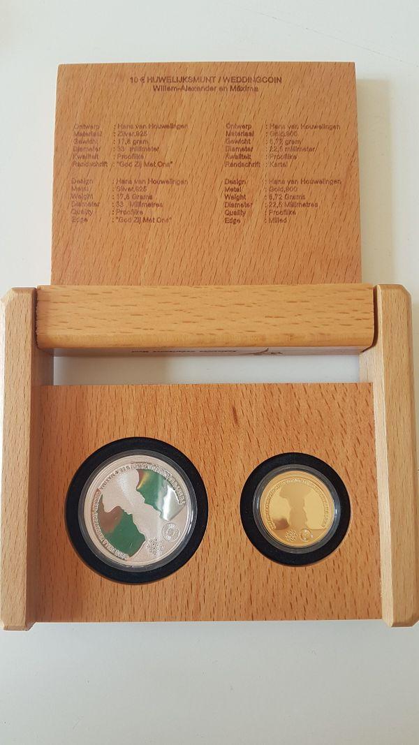 Gold Silber Münzen Set Niederlande