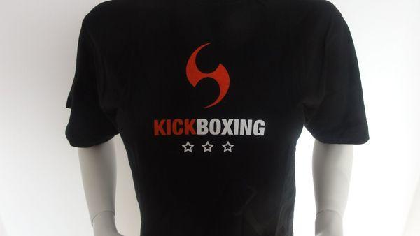 Kampfsport-Shirts KickBoxing schwarz Gr S