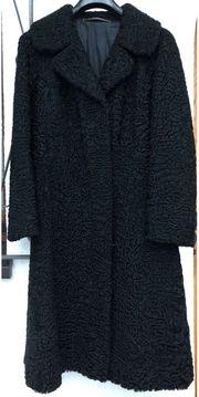 schwarzer Persianer Mantel Gr 40