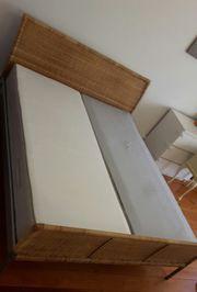 Ikea Rattanbett inkl Lattenrost und