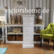 Schmale Kommode weiss hohes Sideboard