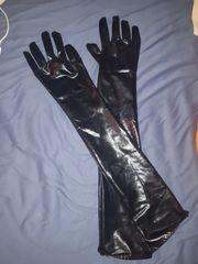 Handschuhe lack Schwarz sexy