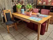 Essecke Tisch 180x90x3 mit 6