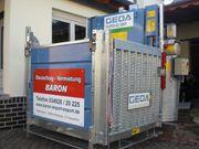 Bauaufzug Vermietung GEDA 500 Z