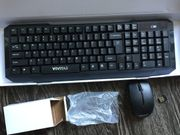 Drahtlose PC-Tastatur mit Maus 2