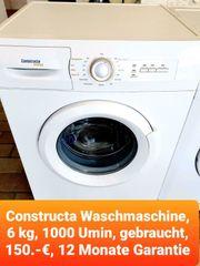 Constructa Waschmaschine 6kg 1000 Umin