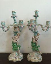 Paar Meissen-Girandolen mit Figurenpaar um 1860