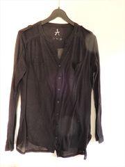 Transparente Langarm-Bluse v Atmosphere - schwarz