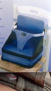 Selbstaufblasende Sitzerhöhung für unterwegs für