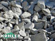 Gabionensteine für Steinkörbe Granit hellgrau