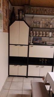 Sideboard Wohnzimmerschrank schwarz weiß