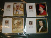 4 Sonderbriefmarken Gemälde berühmter Gäste