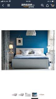 Ikea BRUSALI Bett 140x200 weiss