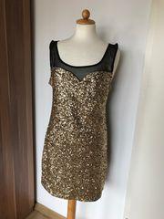 Glitzer Kleid partykleid Gold