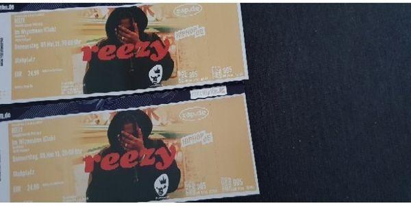 2 Eintritts karten für Reezy
