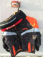 KTM Motorradjacke Kinder Größe 128