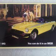 Postkarte MGB Cabrio RHD 1978