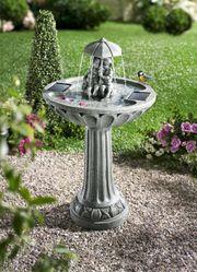 SmartSolar Umbrella Springbrunnen Gartenbrunnen Zierbrunnen